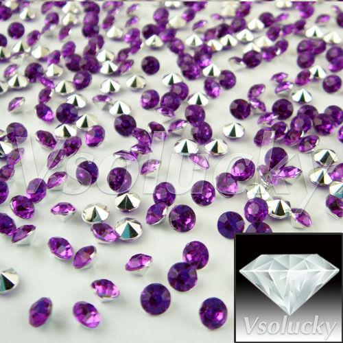 1000PCS 4.5 mm 1//3ct Diamant Table Confetti Fête De Mariage Cristaux Décorations