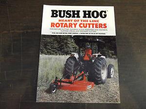 Bush Hog Heart Of The Line Rotary Cutters Brochure 307 305