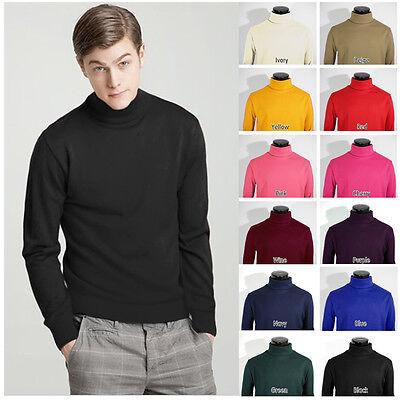 Mens New QUALITY Cotton Turtleneck LongSleeve Shirts VARIOUS COLORS S,M,L,XL,2XL