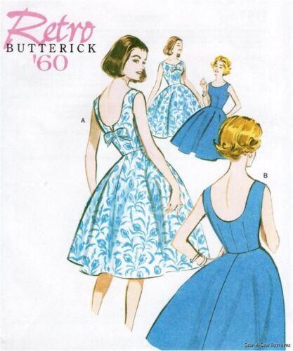 Butterick B5748 SEWING PATTERN 6-14 Vintage Retro 60s Sun Dress Swing Rockabilly