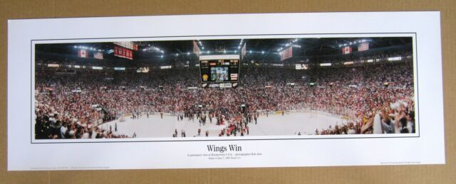 Red Wings 1996-7 Stanley Cup at Joe Lewis Arena Panoramic - small 9.5 x 27 !