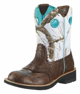 Ariat-Women-039-s-Cowgirl-Fatbaby-Boots-10009503-Brown-Crinkle-amp-Snowfall