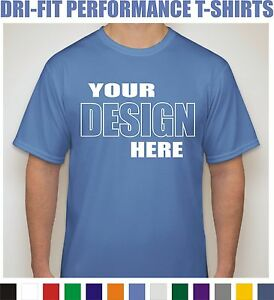 24 custom screen printed dri fit moisture wicking dry t for Custom dry fit shirts