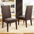 Sure Fit Stretch Leather Shorty Dining Chair Slipcover in Brown 171325236H