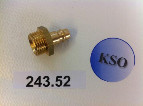 "Kupplungsstecker Druckluftkupplung NW 7,2 1//2/"" IG/&AG Messing Pneumatik Druckluft"