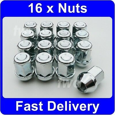 16 x ALLOY WHEEL NUTS FOR FORD FOCUS MK1 (1998-05) INC ST170 LUG BOLTS [1V]