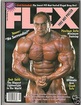 FLEX Bodybuilding Muscle Magazine Nassau El SonBaty/Becky Rampey w/poster 4-97