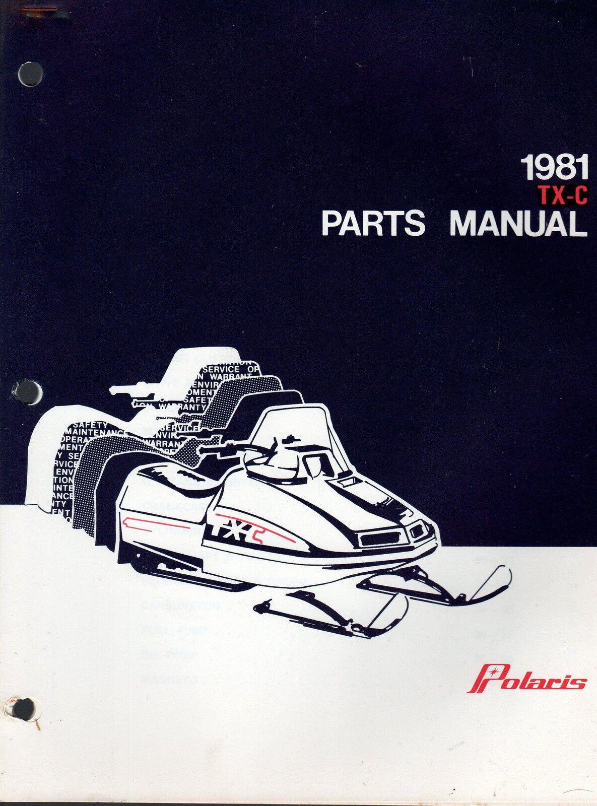 1981 POLARIS TX-C SNOWMOBILE OWNERS MANUAL