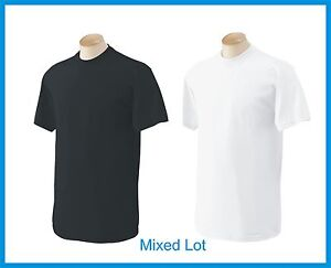 T-SHIRTS Blank 50 Black 50 White BULK LOT S-XL Wholesale Gildan ...
