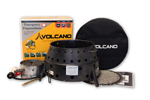 New-Volcano-2-Collapsible-Outdoor-Propane-Grill-w-LID-Tri-Fuel-Cook-Stove