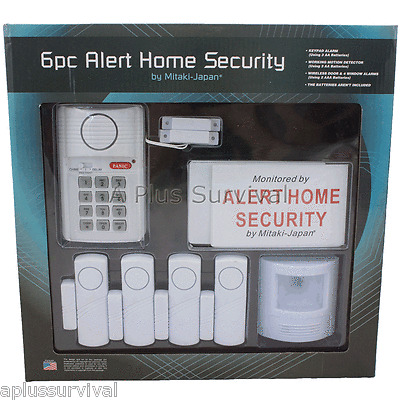 6 Piece Door Window Motion Alarm System for Home Office Vacation Tactical