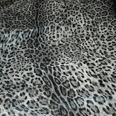 2 pieces (1meter+0.8 meter)silk chiffon animal leopard prints fabric 6 momme