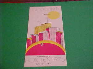 VINTAGE TRAVEL/TOURIST FOLDER/BROCHURE GUATEMALA 1975 HOTEL LODGING DIRECTORY