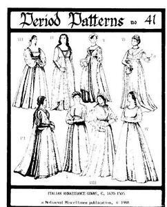 Italian-Renaissance-Gown-Costume-Pattern-Romeo-and-Juliet-sizes-6-20