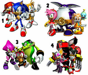 Image Is Loading STICKER WALL DECO SONIC THE HEDGEHOG AND FRIENDS  Part 50