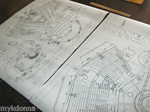 harley panhead technical drawing set engine blueprint flh davidson image is loading harley panhead technical drawing set engine blueprint flh