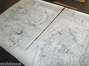 harley panhead technical drawing set engine blueprint flh davidson image is loading harley panhead technical drawing set engine blueprint flh