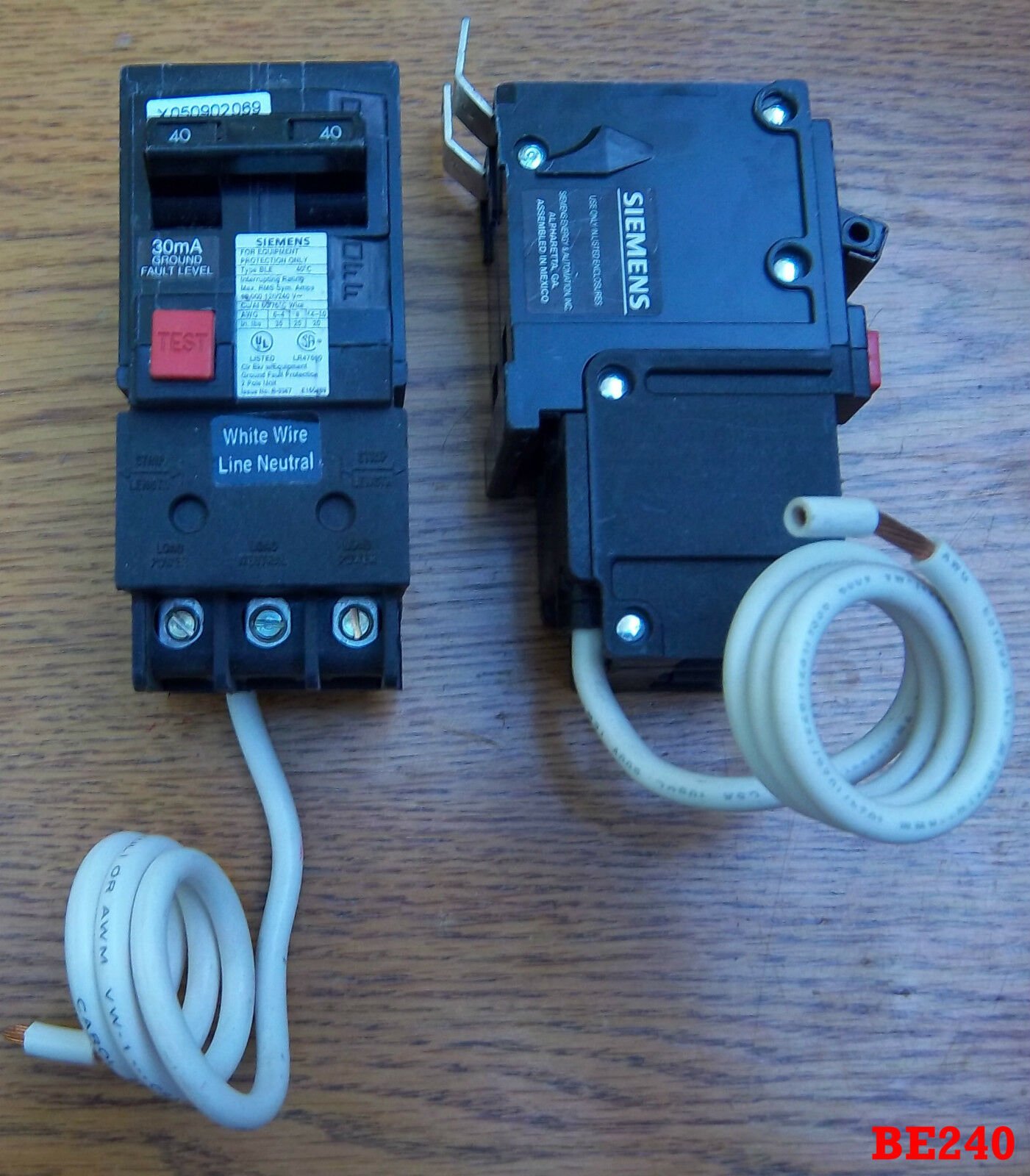 ITE/Siemens 40 AMP 2 POLE BE240 BE BLE GFI GFCI Breaker Equipment ...