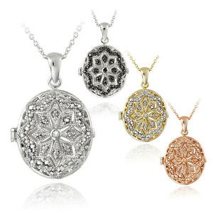 Diamond-Accent-Oval-Locket-Necklace-4-Options
