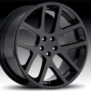 22 inch 22x10 Replica Wheels Dodge Ram SRT-10 Matte Black ...