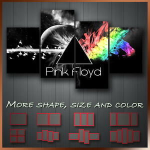 Pink Floyd Wall Art pink floyd dark side of the moon ' icon decorative wall art canvas