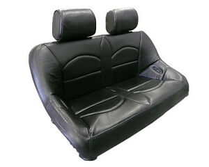 Yamaha Rhino Utv Rear Bench Seat Blk Vinyl W Head Rest 42