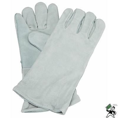 """New 14"""" Leather Cowhide Welding Gloves Protect Hands Tool Welder"""