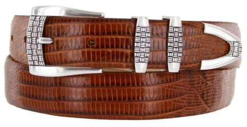"Jakarta 1-1//8/"" Wide Italian Calfskin Genuine Leather Designer Dress Belt"