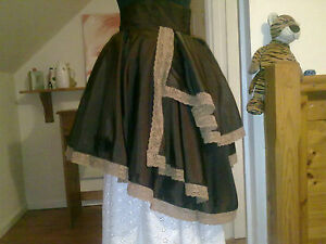 STEAM-PUNK-TAFFETA-BUSTLE-SKIRT-SIZES-10-26