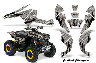 AMR RACING ATV GRAPHIC STICKER KIT QUAD DECAL CANAM RENEGADE 800X/R BLACK FLAMES
