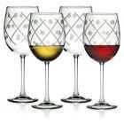 Susquehanna Glass Twist All Purpose Wine Stems, Set of 4