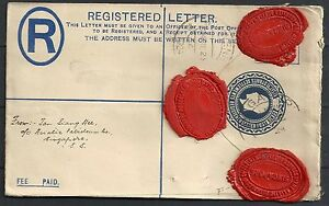 Straits Settlements 1924 Registered Letter Singapore to The Hague