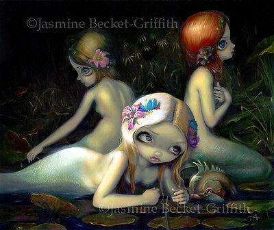 Jasmine Becket-Griffith art print SIGNED Water Elementals mermaid goddess sister