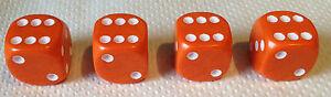 Set-of-4-Orange-Dice-Dust-Valve-Caps-VW-CAR-BIKE-80-039-s-Novelty-Fun-Retro