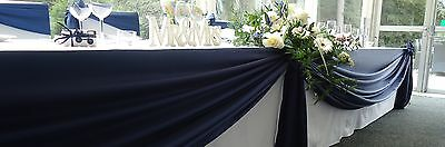 Satin Table Swags - Many Sizes 40+ Colours Available - FREE POSTAGE - UK SELLER!
