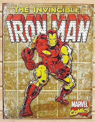 Superhero Tin Signs - vtg/retro comic movie metal poster wall decor ...