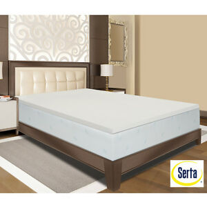 new serta deluxe 2 inch memory foam mattress topper 4 lb full queen king cal ebay. Black Bedroom Furniture Sets. Home Design Ideas