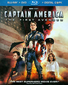 8df12688bdc Captain America  The First Avenger  Two-Disc Blu-ray DVD Combo + ...