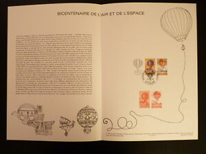 FRANCE-MUSEE-POSTAL-FDC-10-83-L-AIR-ET-L-ESPACE-2-3F-LE-BOURGET-1983