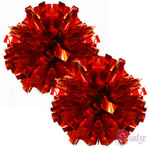 football basketball team school girl cheerleading pompoms sport accessories red ebay. Black Bedroom Furniture Sets. Home Design Ideas