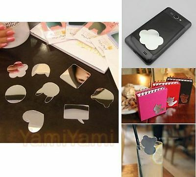 Fashion Cute Mirror Stickers Decoration For Cell Phone Notebook Make Up Camp 2x
