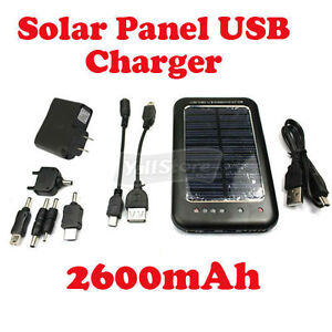New-2600mAh-Cell-Phone-MP3-PDA-Solar-Panel-USB-Charger