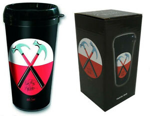 Pink-Floyd-The-Wall-Hammers-Logo-Insulated-Travel-Mug-New-amp-Official-In-Box