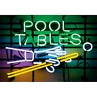 Pool Table Hands and Cues Neon Sign