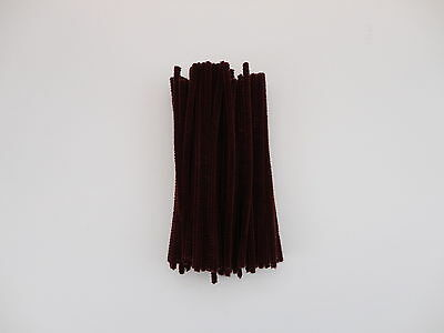 "25 OR 50 CHENILLE STEMS CRAFT PIPE CLEANERS - 10 COLOUR CHOICE - SIZE 6"" / 15CM"