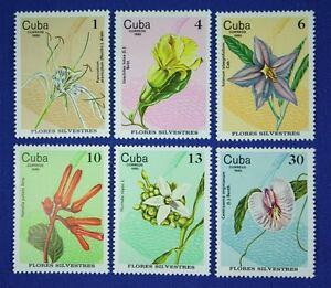 CB200-CUBA-1980-Flowers-Orchids-set-of-6-Mint-NH