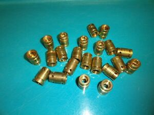 Lot-of-22-unknown-maker-Brass-Faucet-Cartridges-C16