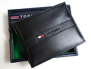 NEW-TOMMY-HILFIGER-MENS-PREMIUM-LEATHER-CREDIT-CARD-WALLET-PASSCASE-BILLFOLD