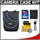 One Source Network Canon PowerShot Digital Camera Accessory Kit with OSN Compact Digital Camera Case (Black/Blue Trim) + 8GB SD Card for SD780 IS, SD870 IS, SD880 IS, SD940 IS, SD960 IS, SD970 IS, SD980 IS, SD1100 IS, SD1300 IS, SD1400 IS and SD3500 IS
