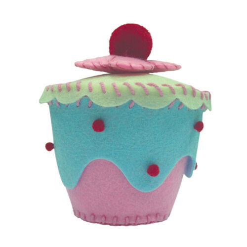 dotcomgiftshop PINK BLUE FELT CRAFT MAKE YOUR OWN CUPCAKE KIT